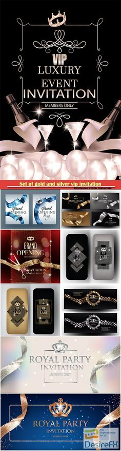 Luxury labels and laurels collection vector illustration - best of luxury invitation vector