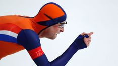 Sven Kramer of The Netherlands competes during the men's 10,000 meters speedskating race at the Gangneung Oval at the ...