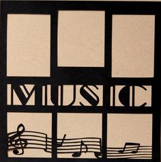 """Die-Cut Cardstock Music 11.50"""" x 11.50"""" Scrapbook Page Overlay is available at Scrapbookfare."""
