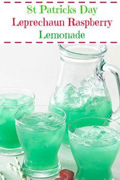 St Patrick's Day Leprechaun Raspberry Lemonade | Jodeze Home and Garden