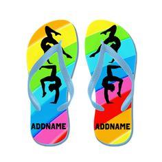Dazzling Gymnast Flip Flops http://www.cafepress.com/flipflopfrenzy/12577094 #WomensGymnastics #Gymnast #Gymnastflipflops #personalizedgymnast #Gymnastgift #Ilovegymnastics