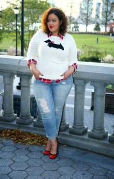 Plus Size Fashion: A Cozy Layered Look