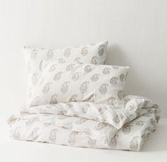 bedding option: RH TEEN's Block Print Paisley Duvet Cover