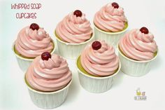 Learn how to make Whipped Soap Cupcakes plus a video tutorial!
