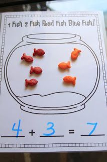 Mrs Ricca's Kindergarten: Fun With Addition! {freebies images ideas from All About Kindergarten Kindergarten Classroom, Kindergarten Activities, Teaching Math, Kindergarten Addition, Dr Seuss Activities, Therapy Activities, Teaching Resources, Math For Kids, Fun Math