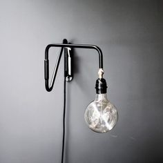 Tine K | swivel it flat against the wall when not in use | Wall Light - Mad About The House
