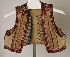 The Metropolitan Museum of Art - Vest late c. Medieval Clothing, Historical Clothing, Bohemian Style, Boho Chic, Empire Ottoman, Ethnic Design, Folk Costume, Gypsy Warrior, Fashion Fabric