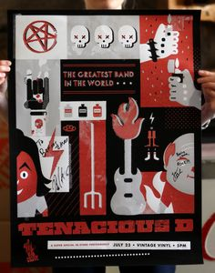 Tenacious D Gig Poster by Misty Manley, via Behance
