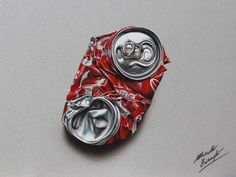 33. Marcello Barenghi – Crushed Coke Can - Barenghi is probably one of the best today in making colored 3D drawings. This can looks like trash and not a piece of art drafted on paper!