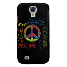 Peace Hope Love Imagine Together iPhone3 Cover Galaxy S4 Cases