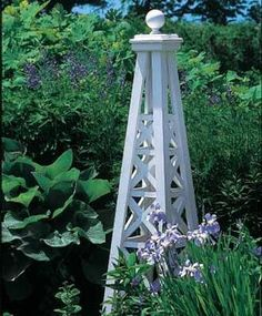 Lattice Obelisk with Sphere Top - traditional - garden sculptures - other metro - Walpole Outdoors