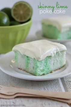 Skinny Lime Poke Cake by Yummy Healthy Easy