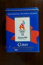 1996 Atlanta Olympics Curad Adhesive Bandages Tin - Official licensed product Atlanta Olympics, Adhesive, Tin, Pewter