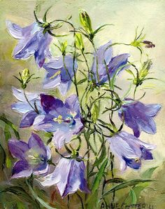 Harebells | Mill House Fine Art – Publishers of Anne Cotterill Flower Art