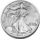 La Silver Eagle, une once d'argent pur (999 millièmes). Une référence internationale en argent d'investissement.