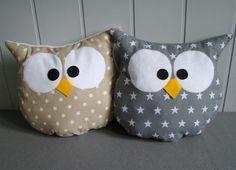 Animales de peluche - OWL almohada cuddly decorativo - hecho a mano por Ifffka en DaWanda