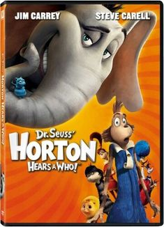 Horton Hears A Who on DVD from Century Fox. Directed by Jimmy Hayward and Steve Martino. Staring Seth Rogen, Steve Carell, Isla Fisher and Amy Poehler. More Comedy, Family and Animated Feature Films DVDs available @ DVD Empire. Kid Movies, Family Movies, Cartoon Movies, Great Movies, Disney Movies, Movies And Tv Shows, Movie Tv, Children Movies, Bee Movie