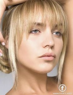 Pinning for bangs style in photo                                                                                                                                                                                 More