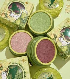 Makeup News: ColourPop Cosmetics x Tinker Bell Makeup Collection Releases ColourPop Cosmetics x Tinker Bell has just released a new special-edition makeup collection, inspired by the popular Disney character. The new ColourPop Cosmetics x Tinker Bell Makeup Collection includes a new eyeshadow palette, lip stains, Super Shock Shadows, blushes, highlighter, liners, bundles, and more... Colourpop Cosmetics, Makeup Cosmetics, Glitter Hair Spray, New Eyeshadow Palettes, Makeup News, Glossy Lips, Beauty News, Beauty Industry, Makeup Collection