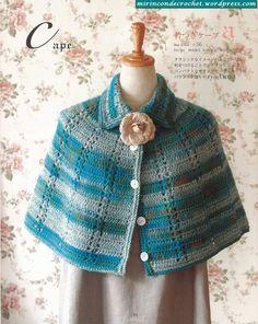 Crochet Patterns Women Women& Cape For Winter Pattern … Source: Japanese Magazin. Crochet Cape, Crochet Jacket, Crochet Cardigan, Crochet Shawl, Crochet Stitches, Knit Crochet, Crochet Patterns, Knit Shrug, Filet Crochet Charts