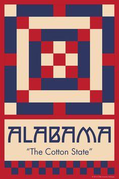 Olde America Antiques | Quilt Blocks | National Parks | Bozeman Montana : 50 STATE QUILT BLOCK SERIES - ALABAMA - version 1
