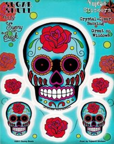 Sunny Buick Rose Sugar Skull Sticker / Decal Yujean Products http://www.amazon.com/dp/B0028QVM6U/ref=cm_sw_r_pi_dp_g3yUvb1593Z3V