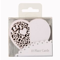Talking Tables - Heart Place Cards
