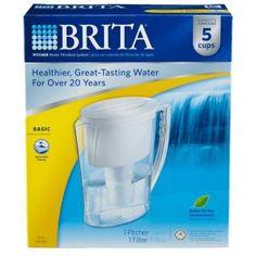 Brita, Five 8 oz. Glasses Slim Water Filter Pitcher, 6025842629 at The Home Depot - Mobile