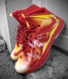 Nike LeBron X   Flash Customs for Darius Miller | By Mache