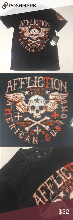 Affliction - CREEPS  SS TAPE Gray S/S Tee  NWT Affliction - CREEPS  SS TAPE Gray S/S Tee  NWT Affliction Shirts Tees - Short Sleeve