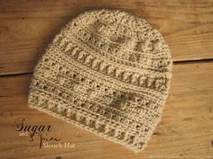 With a different stitch on almost every row, the Sugar and Spice slouch hat is interesting to make, and has a unique look.