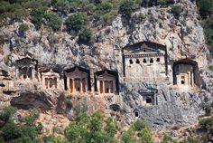 Caria,Kaunos rock-cut tombs with a view.