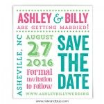Save the date magnet - poster