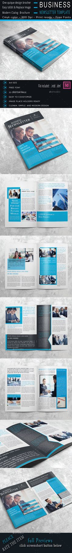 Business Newsletter Indesign Template - Newsletters Print Templates Download here : https://graphicriver.net/item/business-newsletter-indesign-template/14331151?s_rank=22&ref=Al-fatih