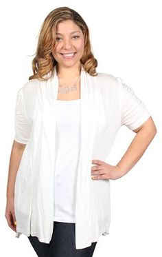 plus size short sleeve cozy with rouched sleeves from deb ... I have this!