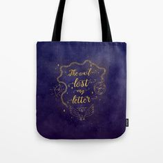 The owl lost my letter Tote Bag by kseniacreatives Cute Tote Bags, Reusable Tote Bags, Letter Bag, Beautiful Gifts, Losing Me, White Cotton, Laptop Sleeves, Cool T Shirts, Towels