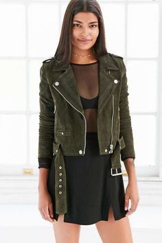 BLANKNYC Suede Moto Jacket - Urban Outfitters