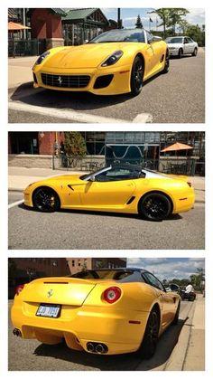 Drop dead gorgeous yellow Ferrari  #Topbanana