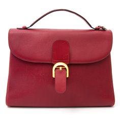 237272d614069 Delvaux Red Mustang Bag Your go-to shopping place for vintage & pre-loved  designer luxury.
