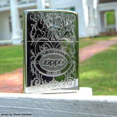 Zippo fans will love this brilliant High Polish Chrome windproof lighter. The iconic Zippo logo is etched deep on the front bottom while the rest of the lighter's face is covered with a unique lustre design. An American classic.
