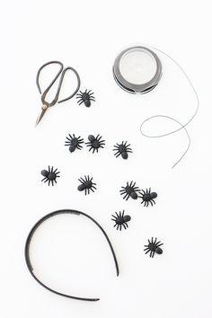 DIY: Simple Halloween Spider Headband