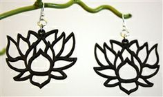 Green Tree Jewelry #Lotus Earrings $12 #wood