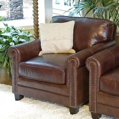 Winslow Leather Accent Chair.