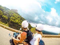 Exploring Mallorca, Spain by motorbike  #mallorca #island #spain #scooter #motorbike #blog #travel #photography #saltinourhair #gopro #hero5 #go #pro #couple