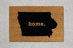 Hey, I found this really awesome Etsy listing at https://www.etsy.com/listing/239333243/iowa-doormat-iowa-door-mat-iowa-welcome