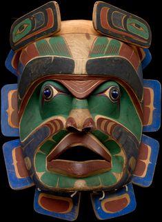 Xi´xa´niyus (Bob Harris, Kwakwaka´wakw, ca. 1870–ca. 1935),'Kumukwamł (Chief of the undersea mask)  ca. 1900  Vancouver Island, British Columbia, Canada  Wood, paint
