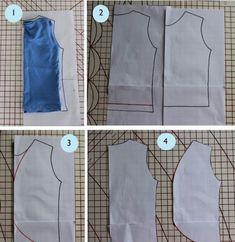 como hacer un chaleco de mujer