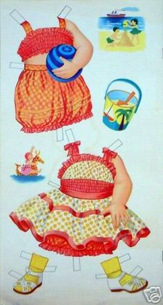 circa 1950's Vintage 13 Paper Doll - Yakira Chandrani - Álbumes web de Picasa