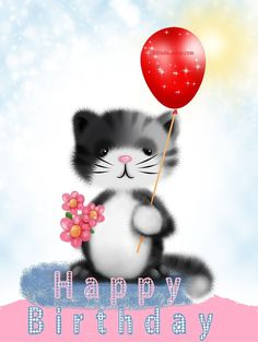 #november #happy #birthdays #kitty #cats #cute #love #flowers #red #pink #adorable #pets