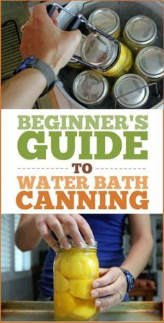 A Beginner's Guide to Water Bath Canning: How to can, what equipment you need, and a big list of common canning recipes! idea diy home organization garden life